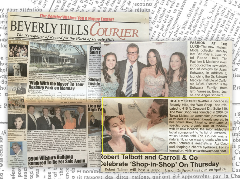Beverly Hills Courier featuring The Wax Shop