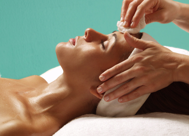 Image of a woman getting a bio-lift facial