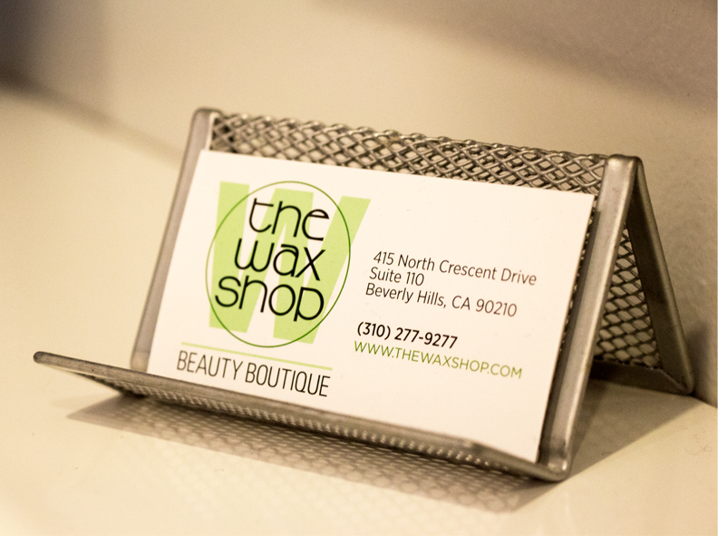 Image of The Wax Shop business cards