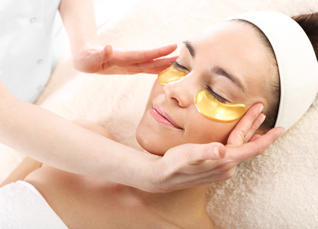Image of a woman getting a collagen facial