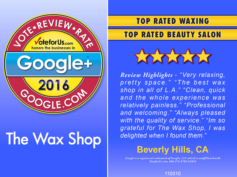 Google+ Award 2016 for Top Rated Beauty Salon on Google+