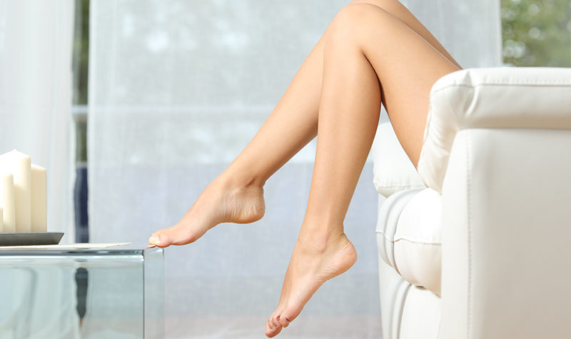 How Quickly Will Hair Grow Back After Waxing? - Image of a woman's smooth legs