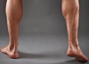 Image of a man's lower legs and calves