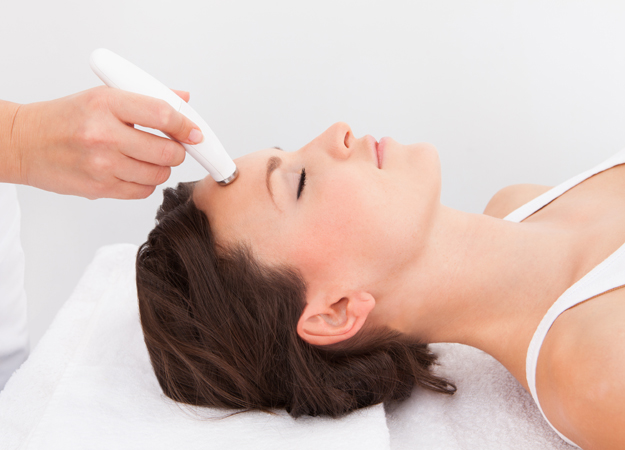 Image of a woman getting a microdermabrasion procedure