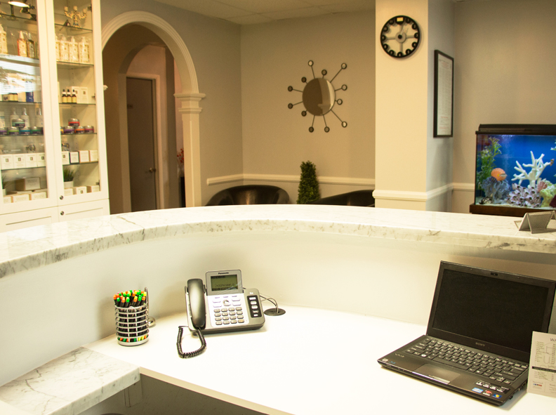 Image of the reception area at The Wax Shop