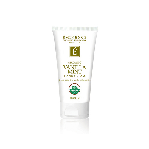 Image of Organic Vanilla Mint Hand Cream by Eminence Organics, sold at The Wax Shop