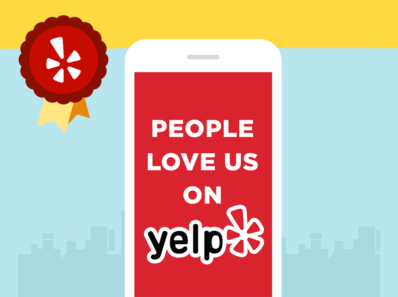 Image of the Yelp Award to The Wax Shop