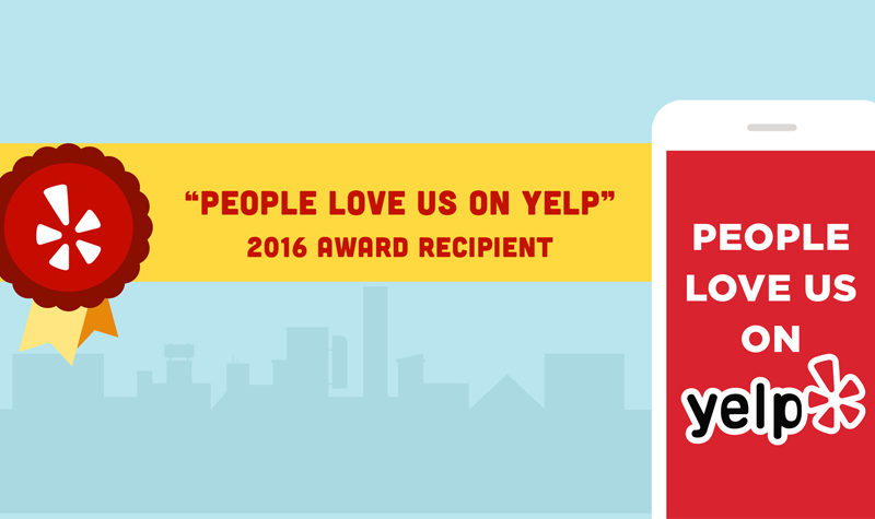 People Love Us on Yelp sticker awarded to The Wax Shop in Los Angeles