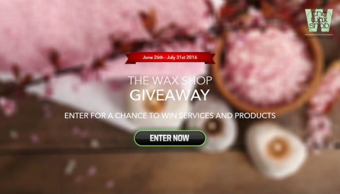 Enter For a Chance to Win FREE Skin Care Products and Beauty Services from The Wax Shop